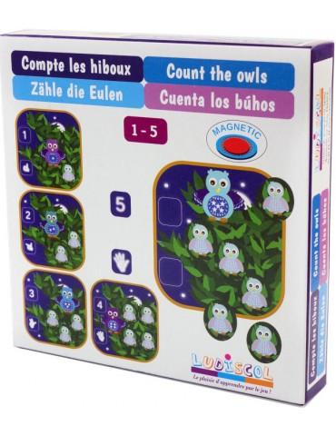 Boite du matériel d'apprentissage de mathématique pour apprendre à compter de 1 à 5