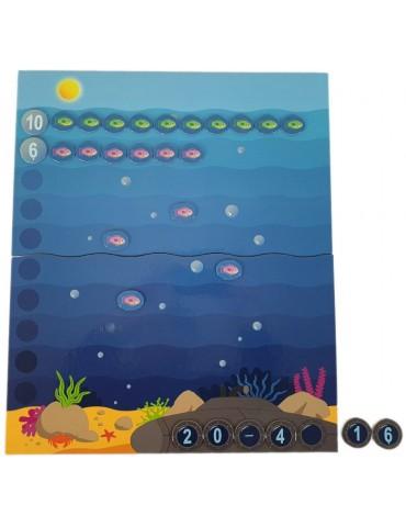exemple opération de soustraction jeu mathématique la grande pêche