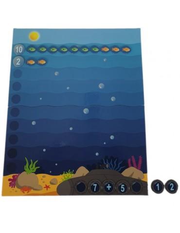 exemple opération d'addition jeu mathématique la grande pêche