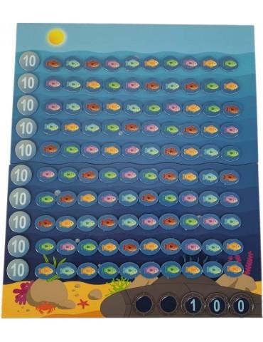 Compter jusqu'à 100 jeu mathématique la grande pêche