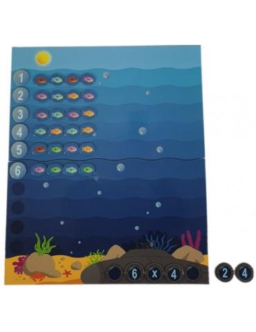 exemple opération de multiplication jeu mathématique la grande pêche