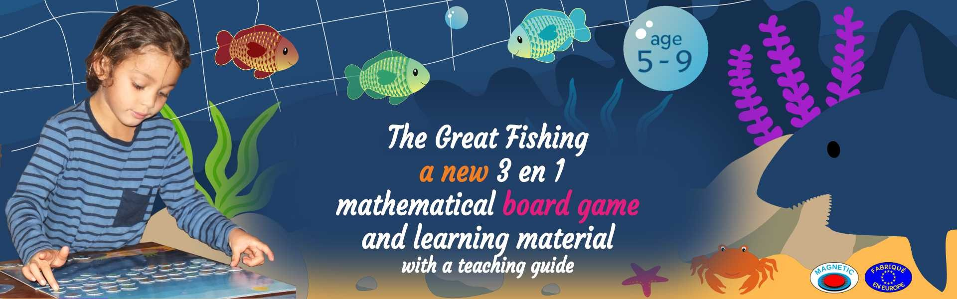 great fishing math board game for ages 5 to 9
